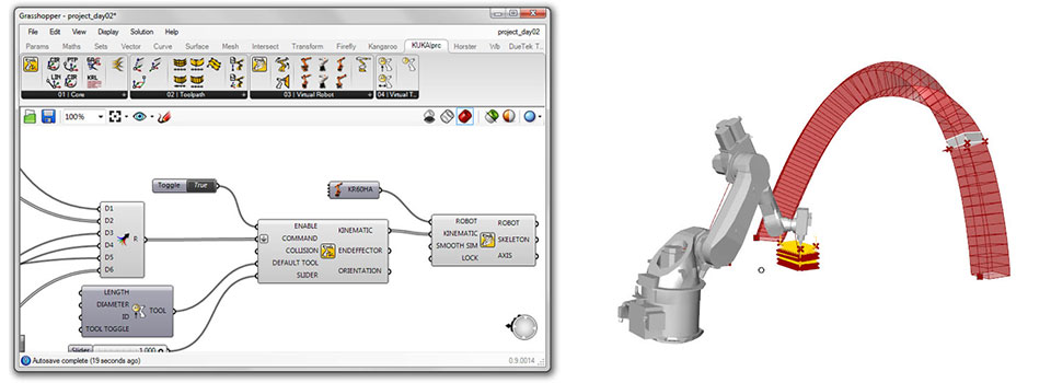 Consortium Spotlight: Robots in Architecture - Visual Programming using KUKA|prc